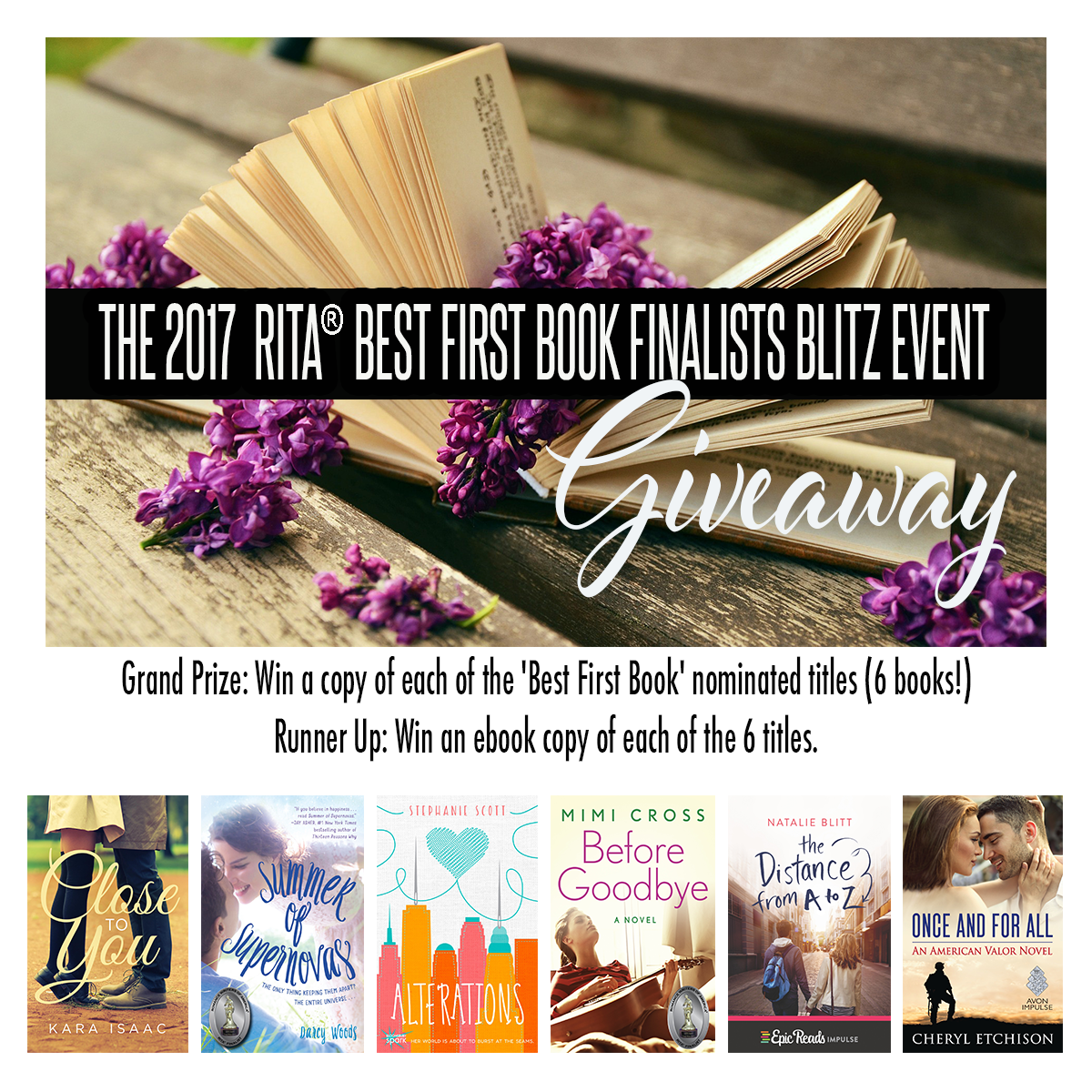 Win a copy of each of the 'Best First Book' nominated titles!