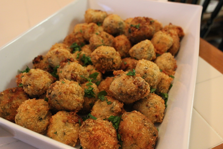 finished risotto balls